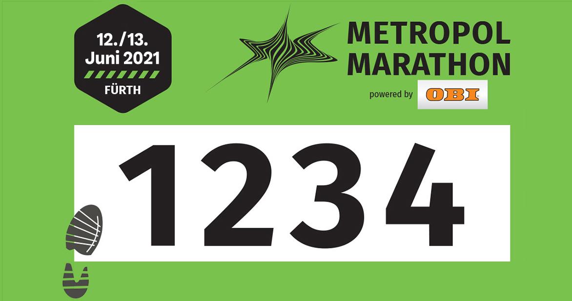 Die Startnummern für die Marathonläufer sind grün.