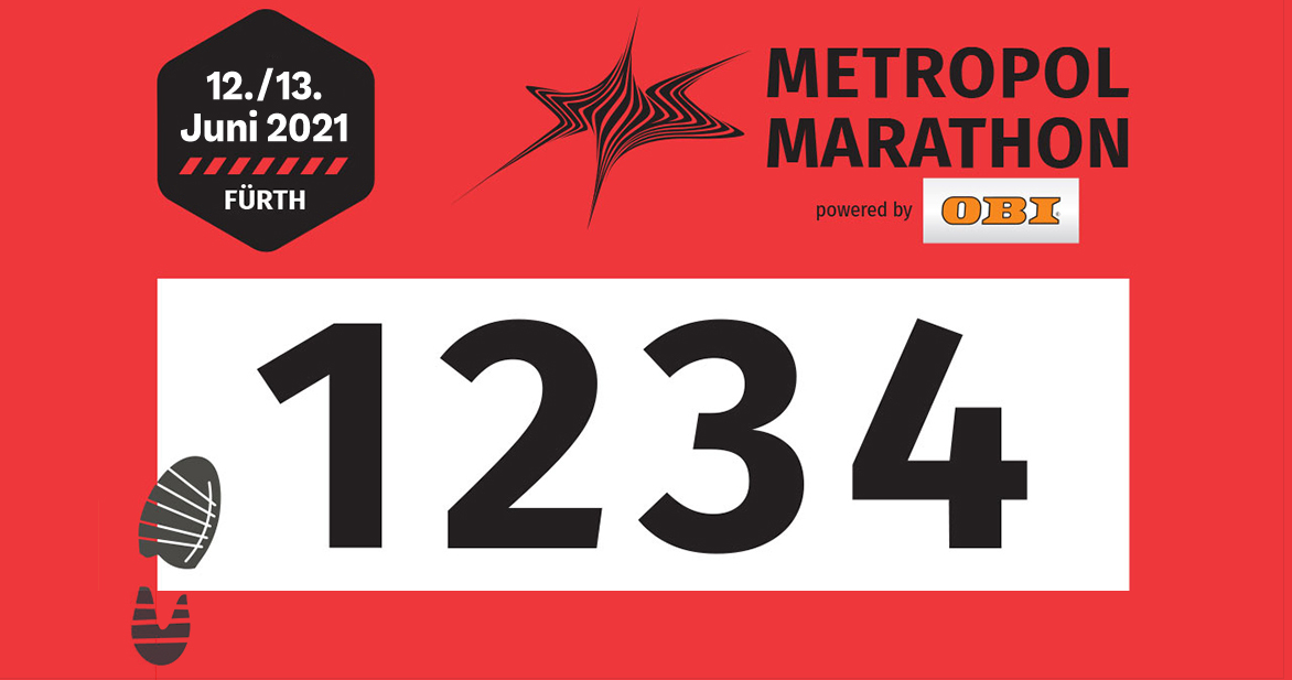 Die Startnummern des Volkslaufs über zehn Kilometer sind rot.