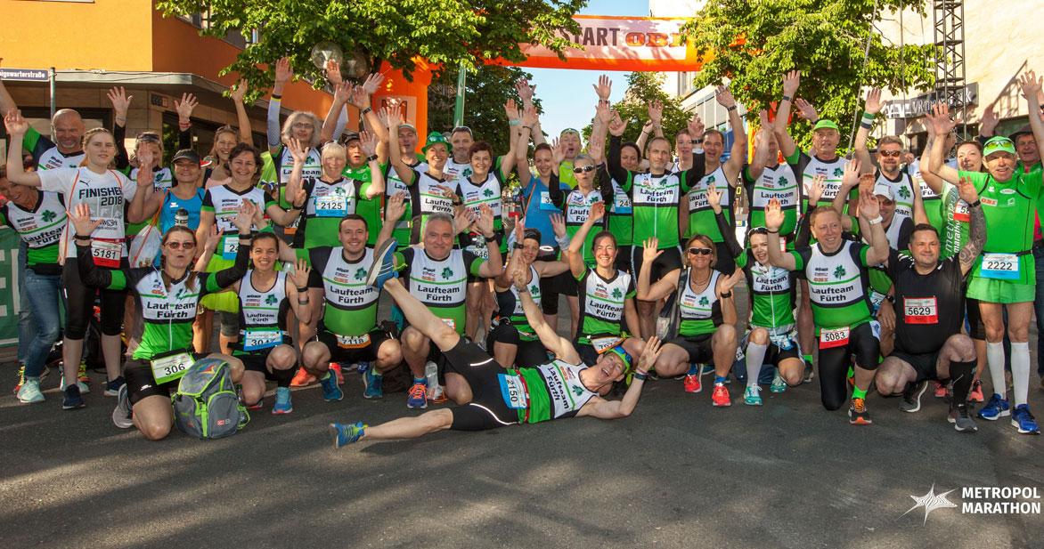 Ohne sie geht gar nichts: Das Laufteam Fürth 2010 e.V. ist Ausrichter des Metropolmarathons und eine der wichtigsten Stützen des Laufevents.