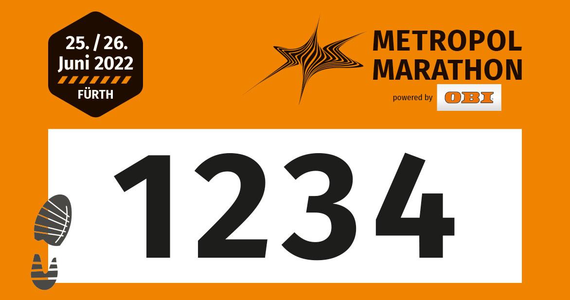 Die Startnummern für die 3/4-Marathon-Distanz sind orange.