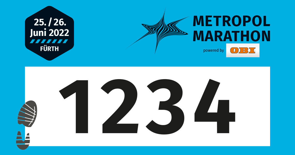 Die Startnummern für die Halbmarathon sind blau.
