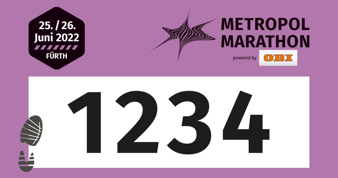 Die Startnummern für den Hobbylauf sind lila.