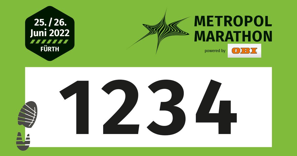 Die Startnummern für den Marathon sind grün.