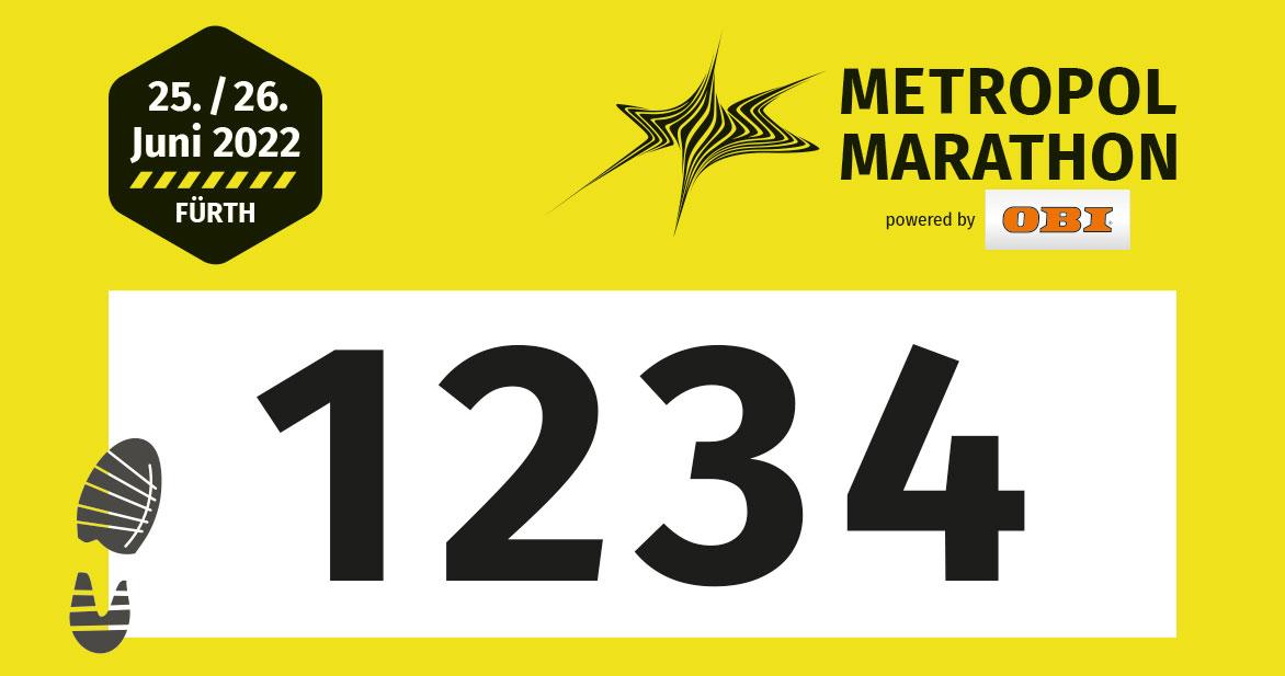 Die Startnummer der Staffel-Teilnehmenden ist gelb.