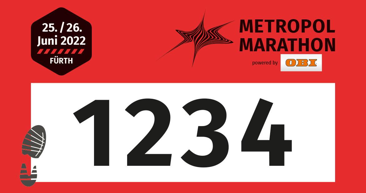 Die Startnummern  für den Volkslauf über zehn Kilometer sind rot.