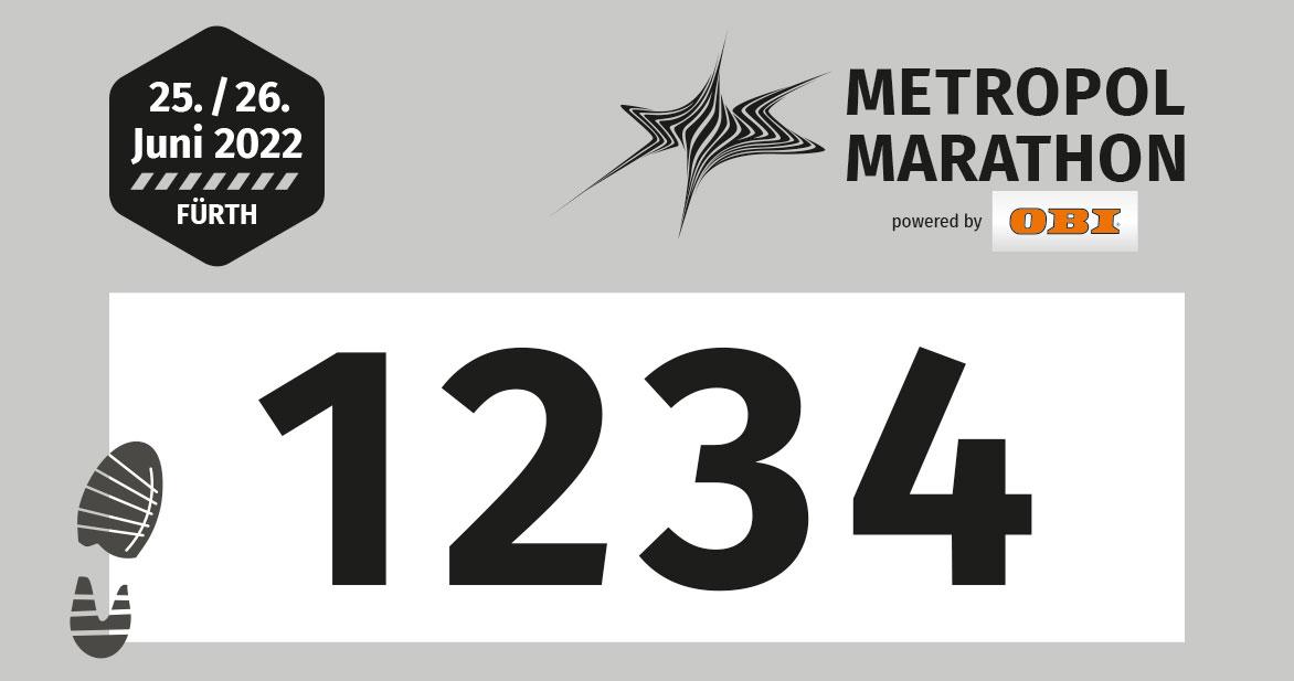 Die Startnummern für Walking bzw. Nordic Walking sind grau.